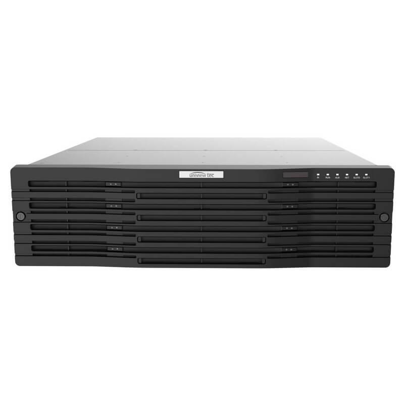 64ch NVR, 4K, HDMI, VGA, Audio, Alarm, USB, 16 HDD bays