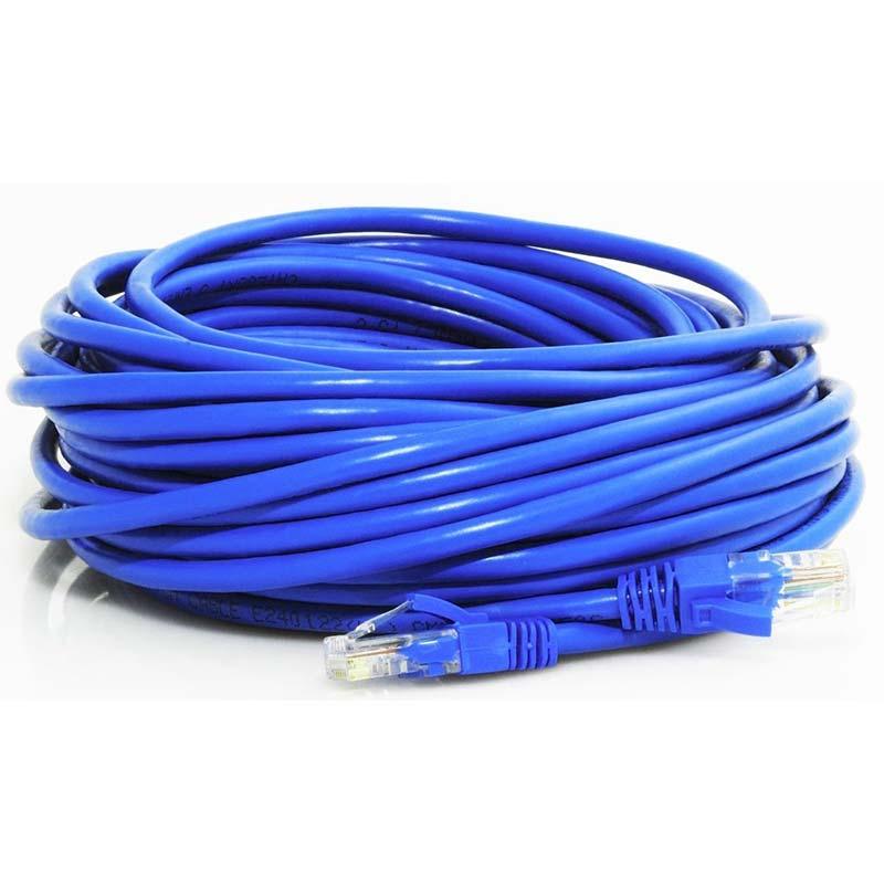 100′ Cat 5e, 350MHz, with connectors, blue