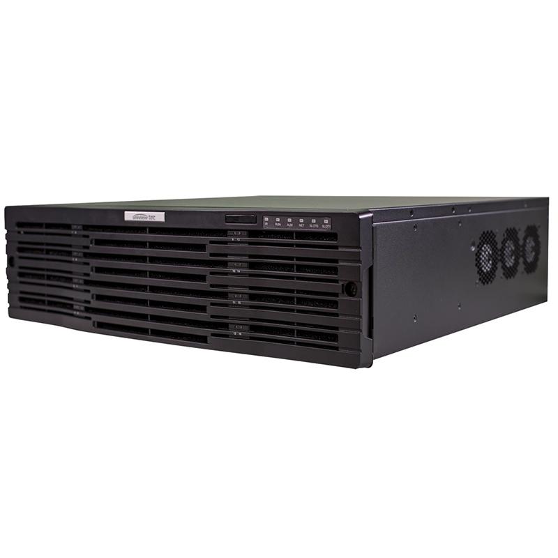 256ch, 12MP Resolution, 16-Bay HDD, H.265, VMS Server